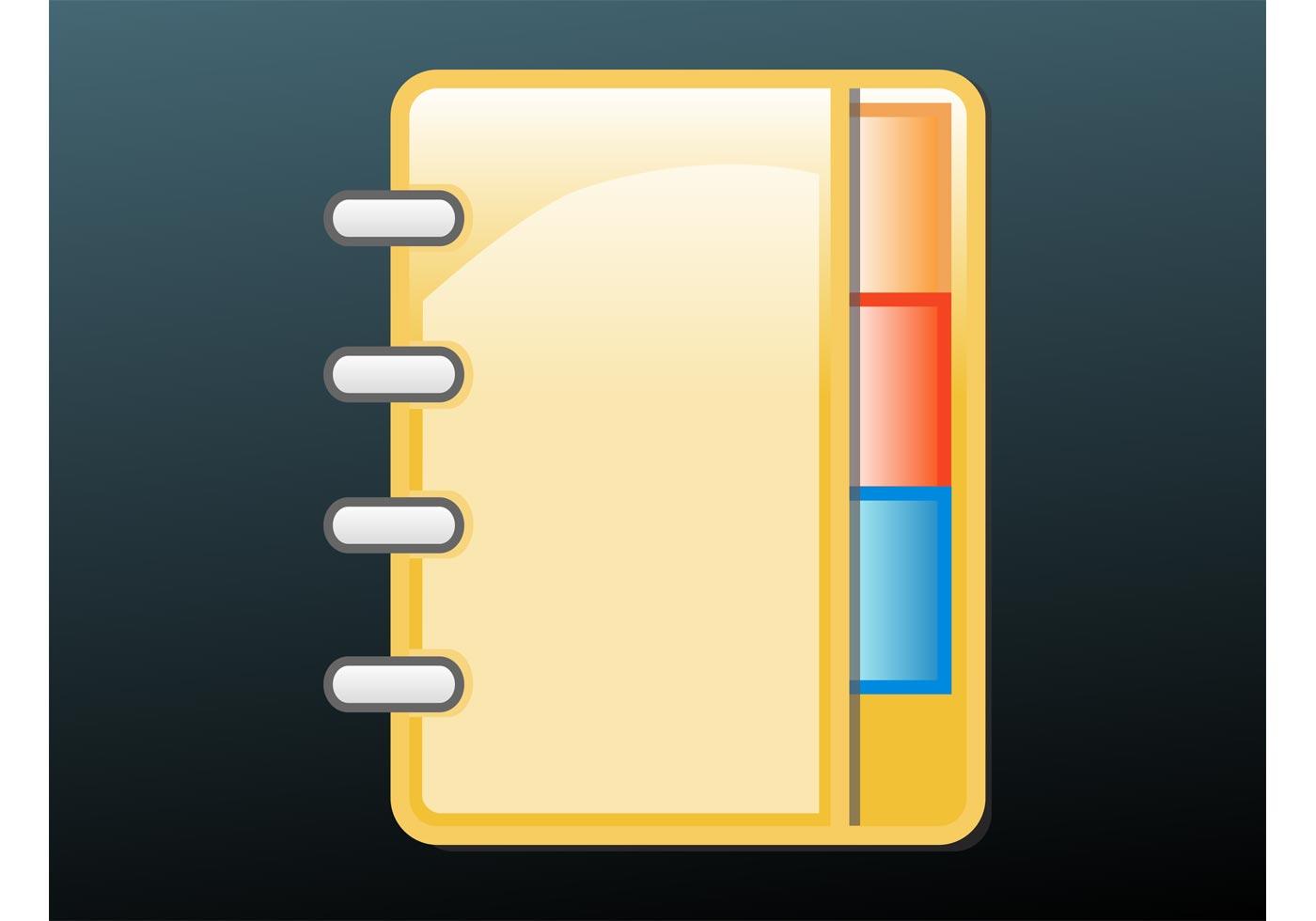 Icono de la libreta de teléfonos - Descargue Gráficos y Vectores Gratis