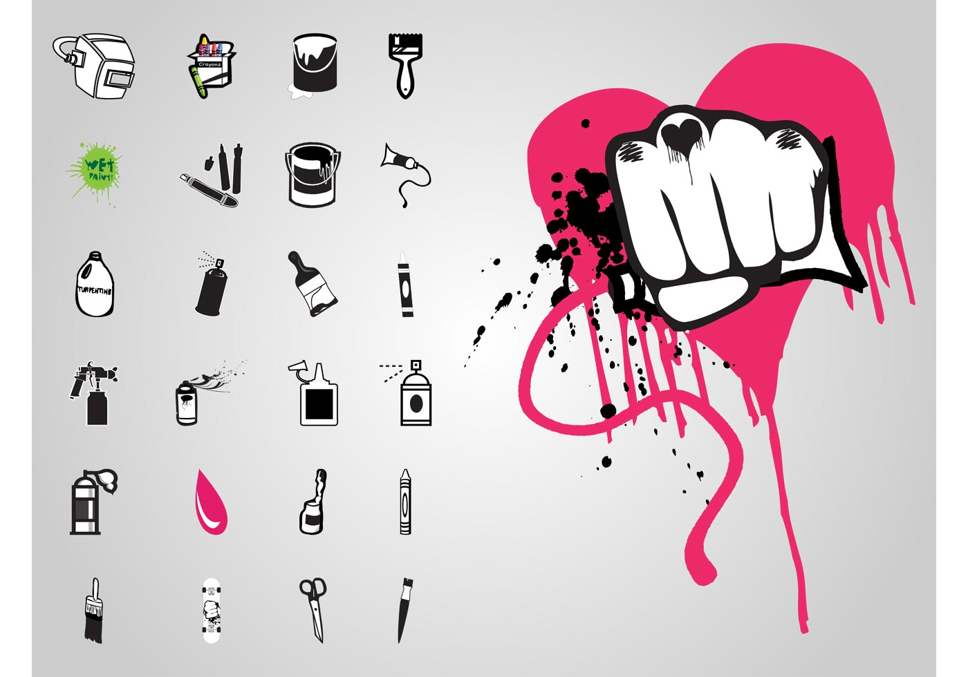 Graffiti Icons Download Free Vector Art Stock Graphics Images