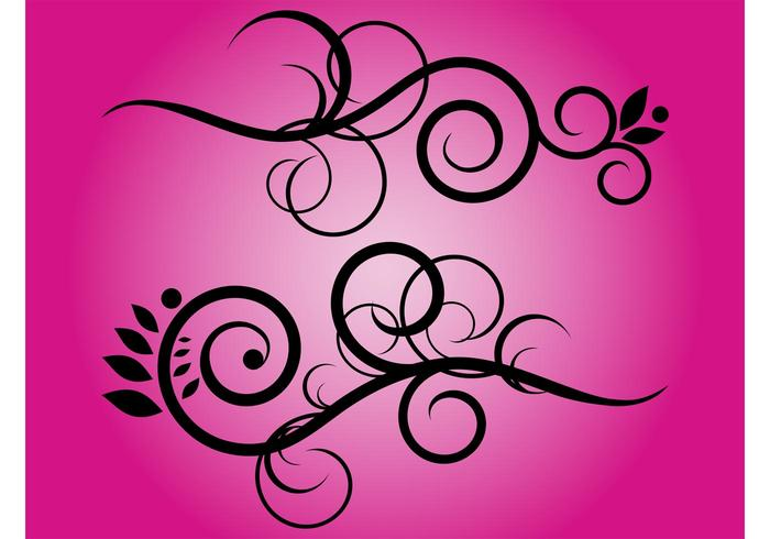 Floral Swirls Vector