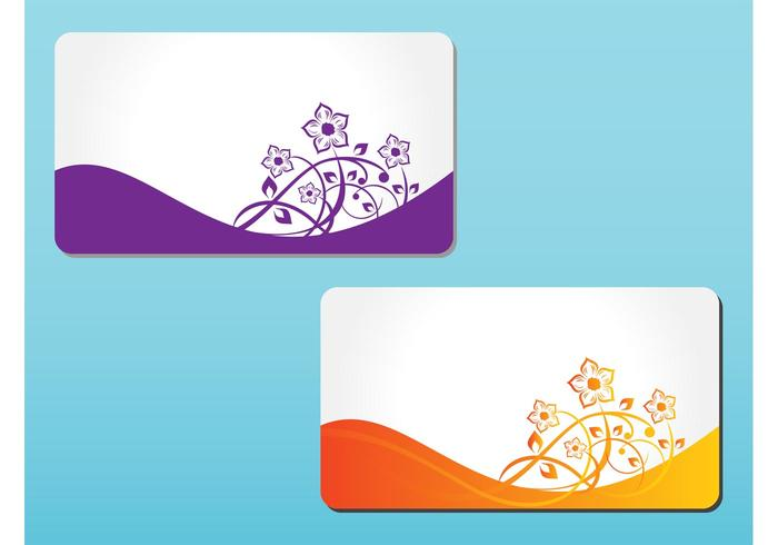 Floral Cards Vectors