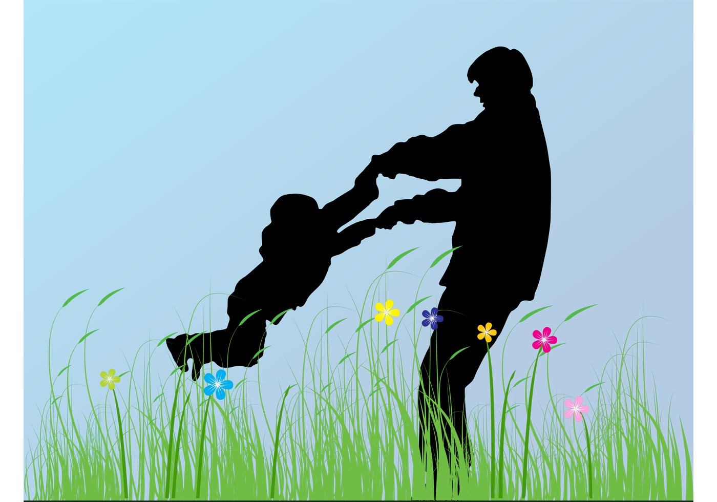 Father And Child - Download Free Vector Art, Stock ...