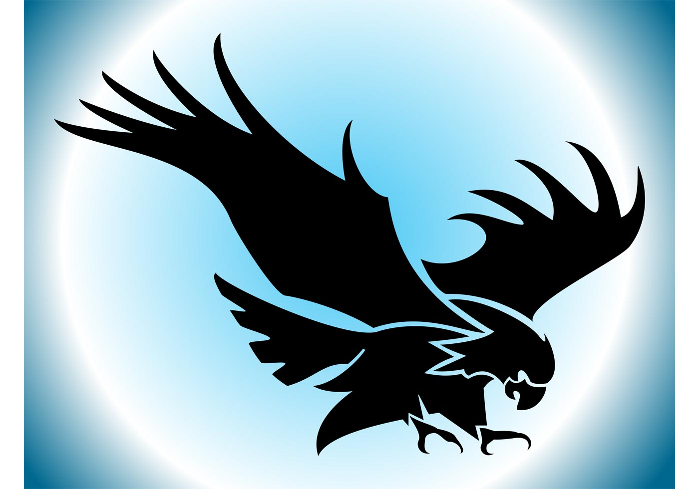 flying eagle silhouette download free vector art stock