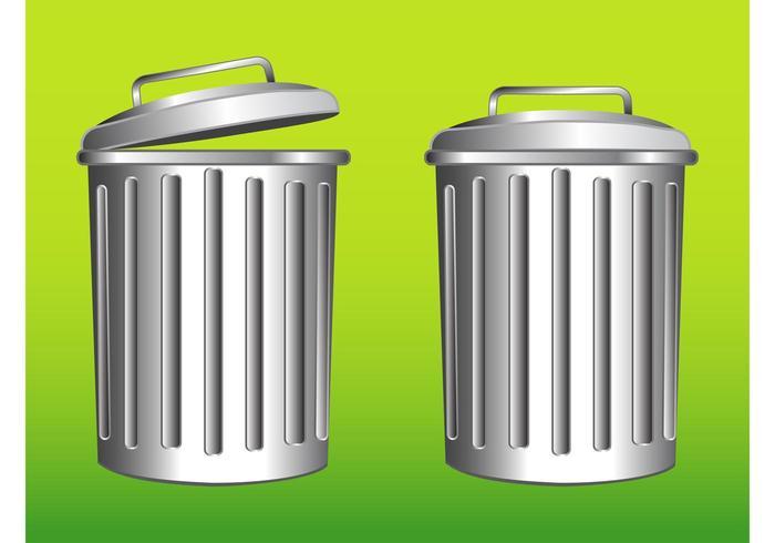Metal Trash Bins