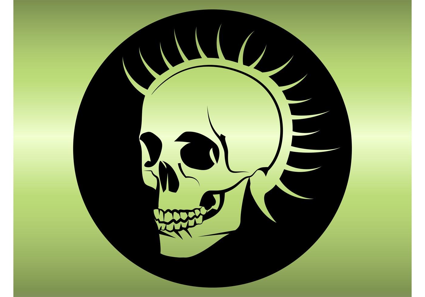 Punk Head Skull Download Free Vector Art Stock Graphics