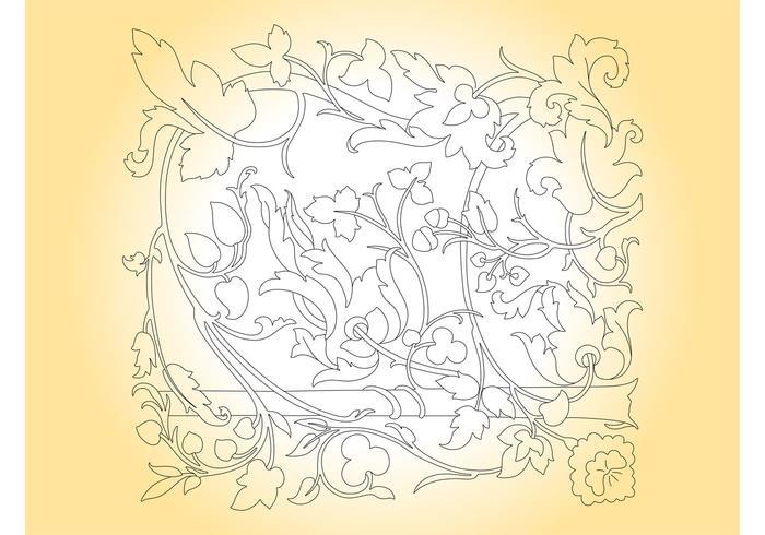 Floral Outlines Frame