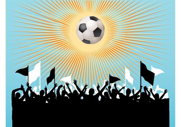 Football Fans Vector