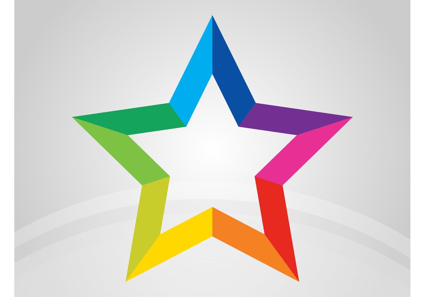 rainbow star download free vector art stock graphics