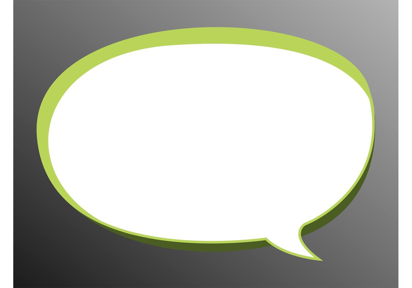 Blank Text Message Bubble Speech Bubble Vector -...
