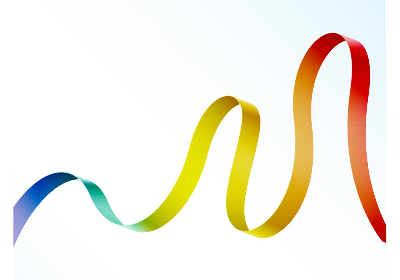 Rainbow Ribbon Download Free Vector Art Stock Graphics