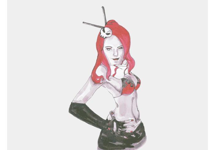 Redhead Illustration