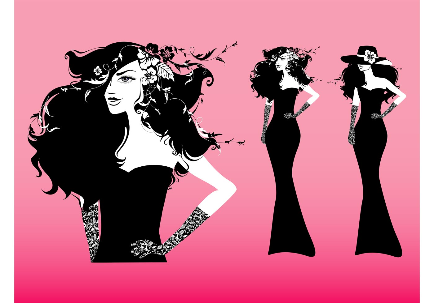 Fashion Girl Vector Download Free Vector Art Stock Graphics Images