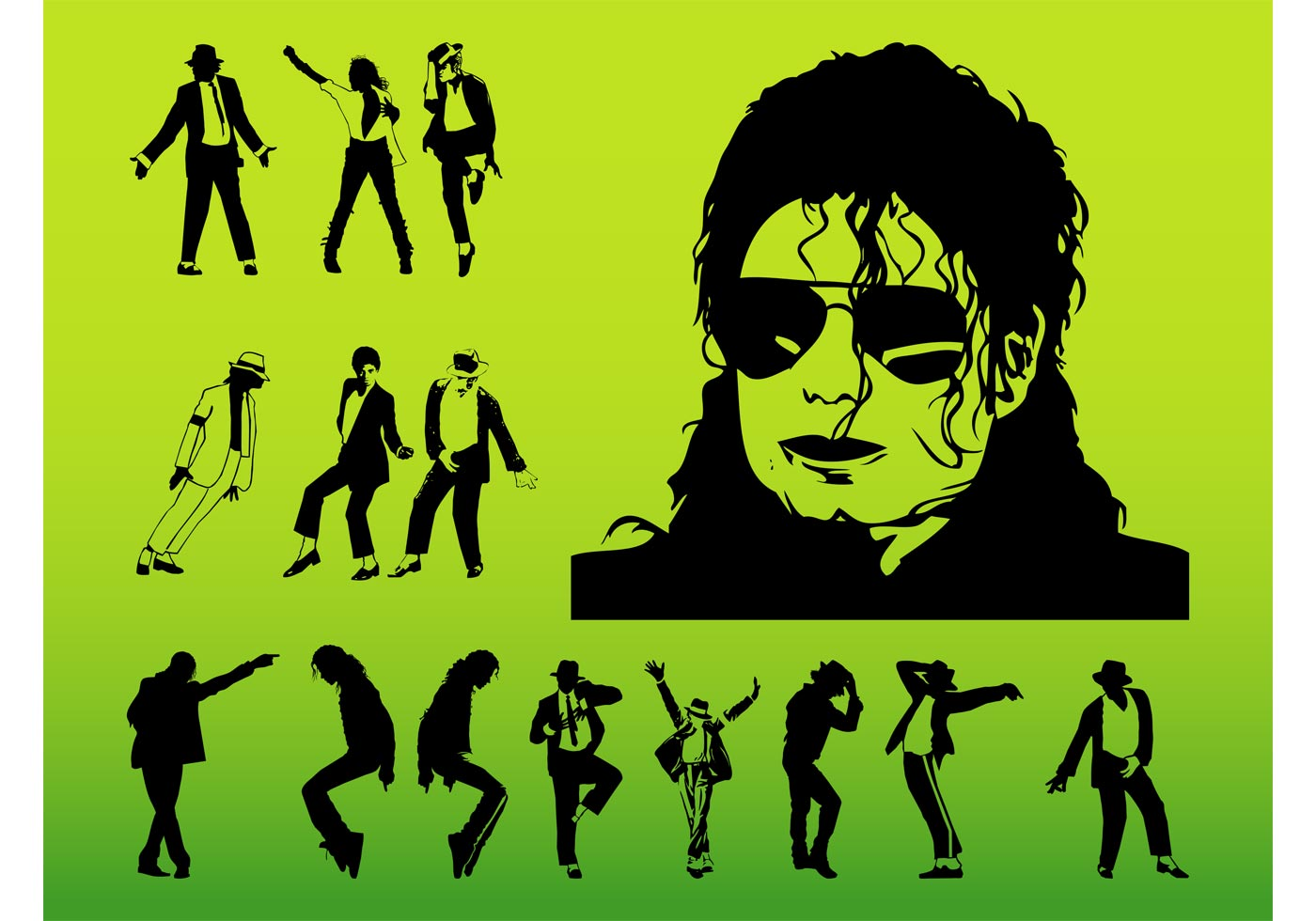 michael jackson silhouette free vector art 9698 free downloads