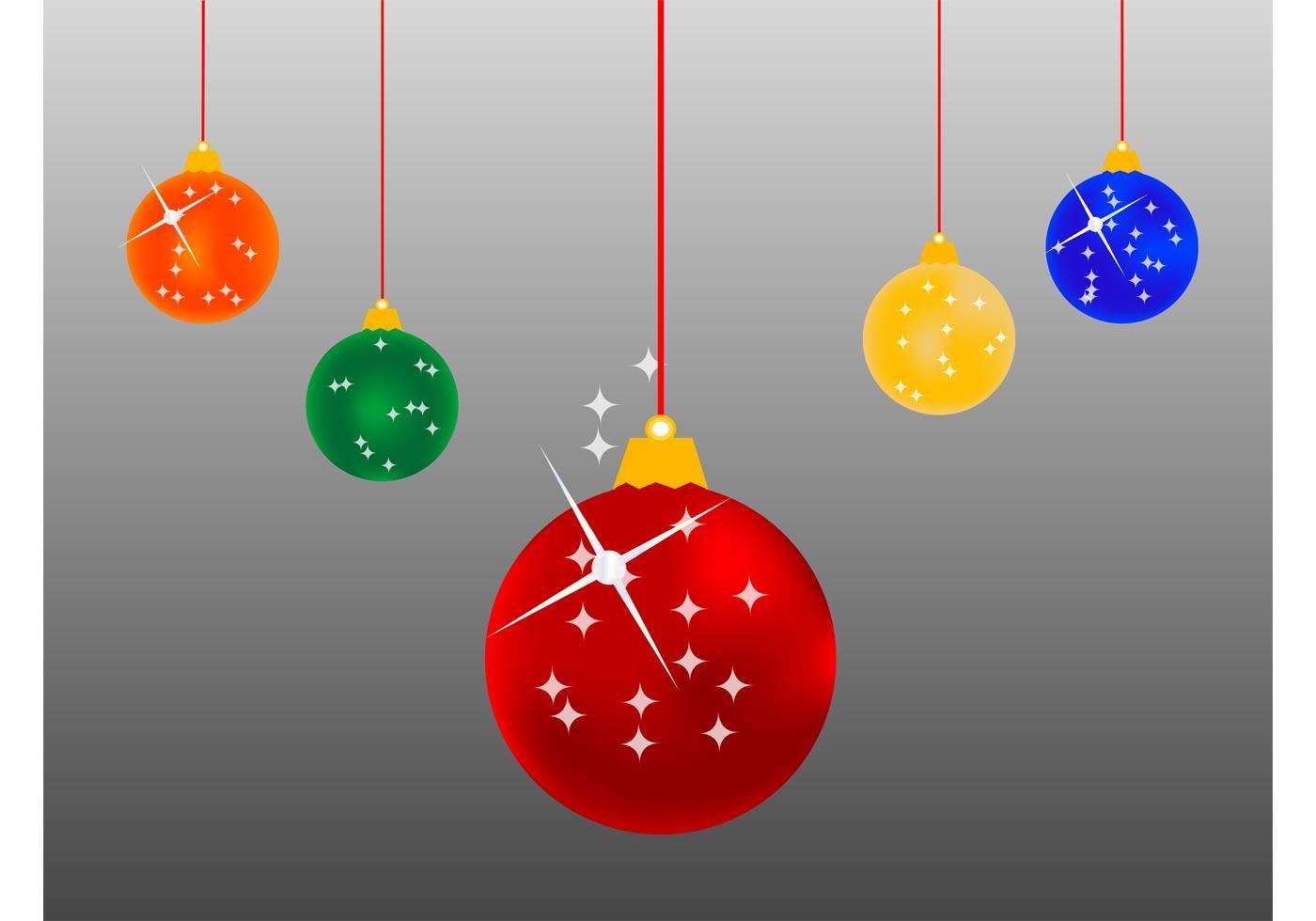 Christmas balls cartoon download free vector art stock