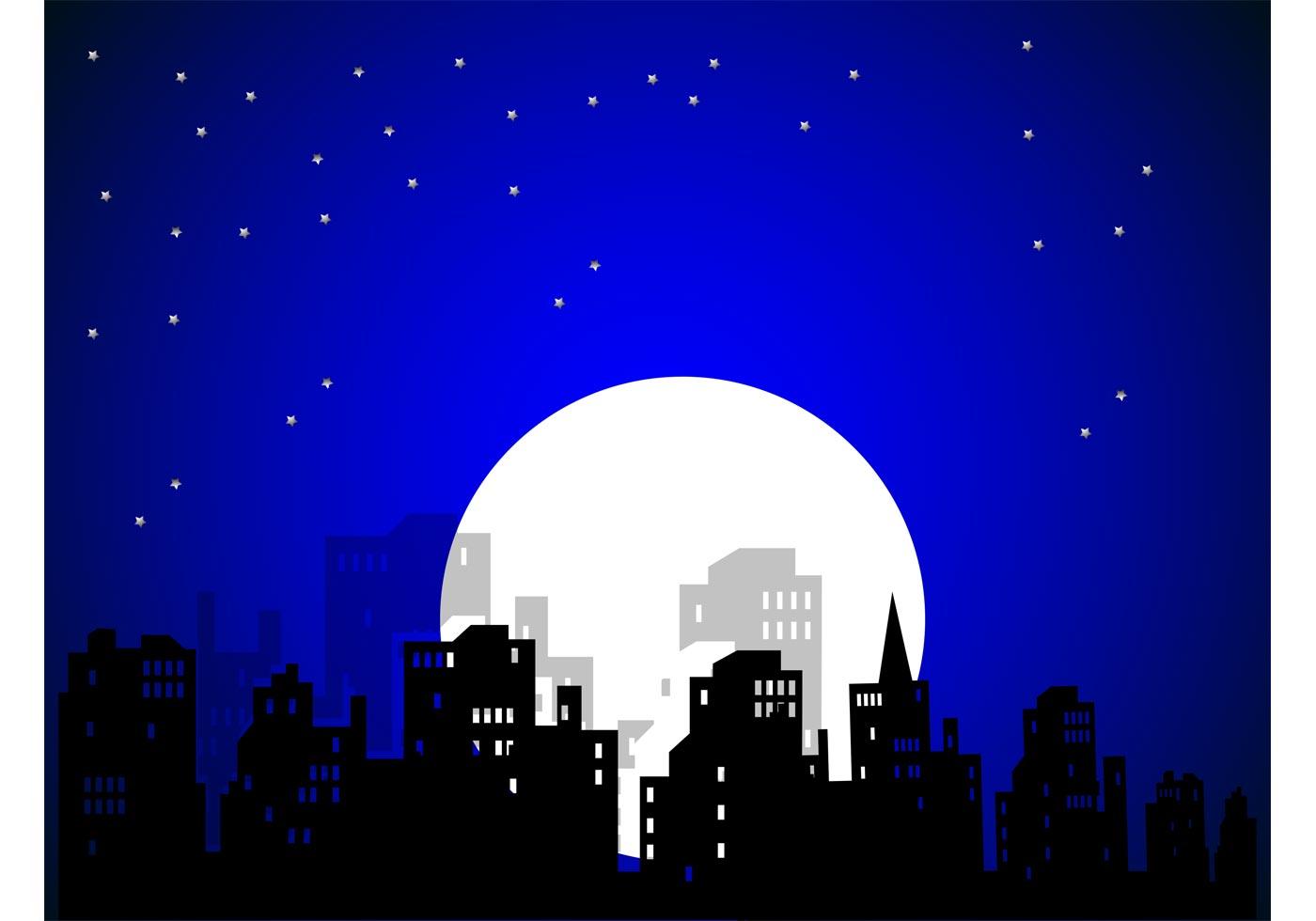 City Night Vector - Download Free Vector Art, Stock ...