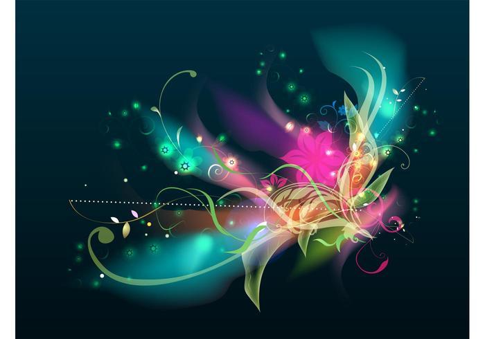 Glowing Flowers