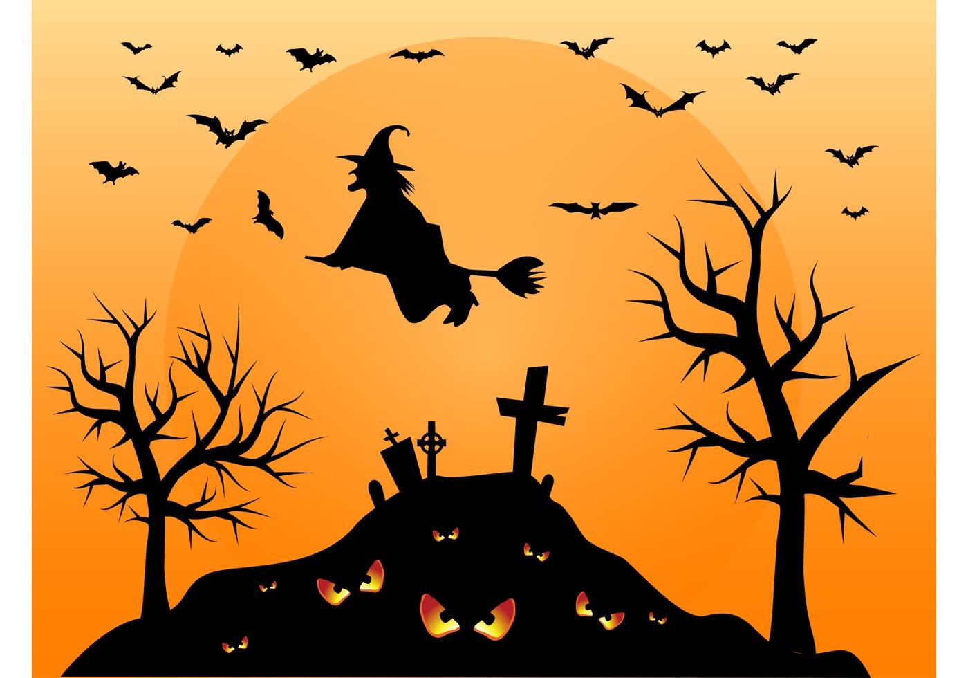 halloween cemetery - download free vector art, stock graphics & images