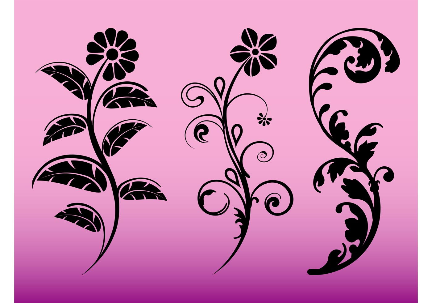 Floral Silhouette Painting Pictures to Pin on Pinterest ...