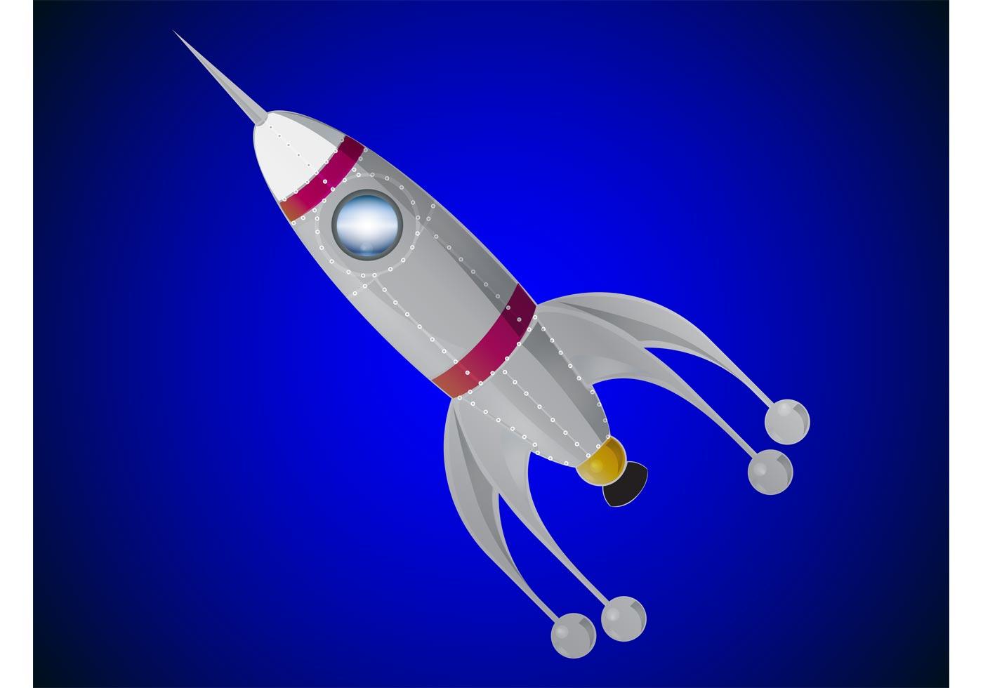 Rocket Ship Free Vector Art