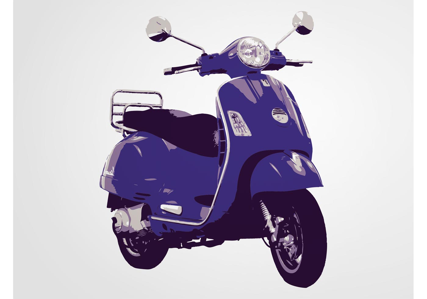 Vespa Scooter Free Vector Art 171 Free Downloads
