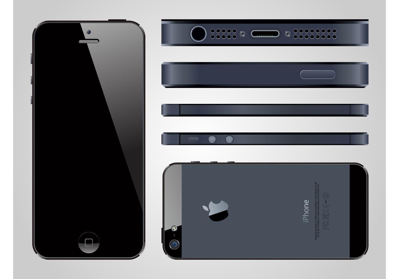 iPhone 5 Vector - Download Free Vectors, Clipart Graphics ...