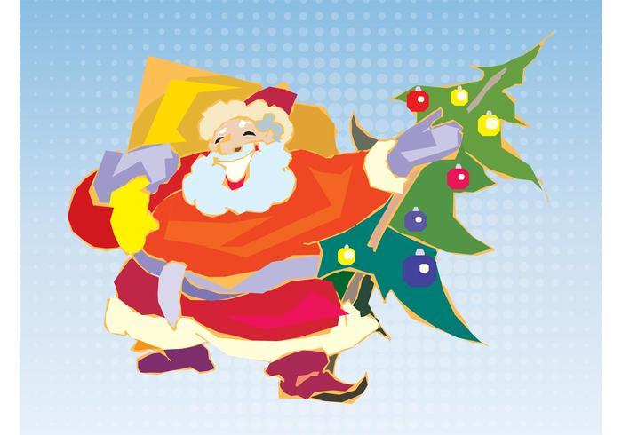 Papá Noel colorido