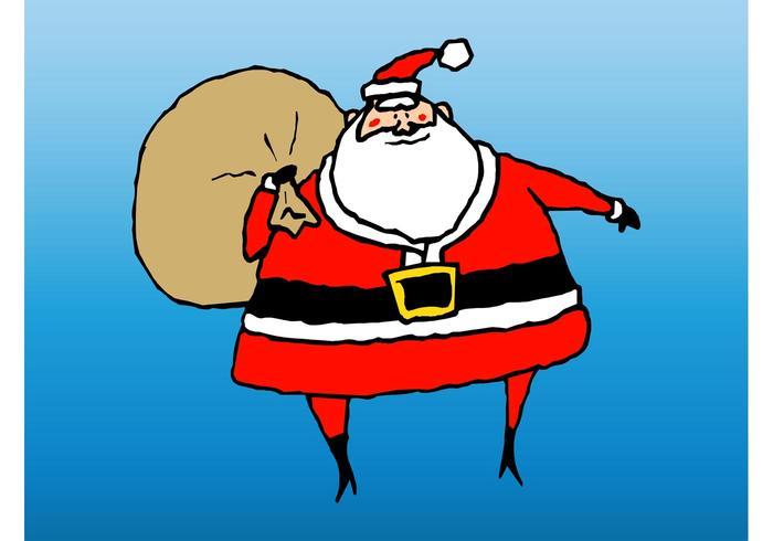 Vetor santa natal
