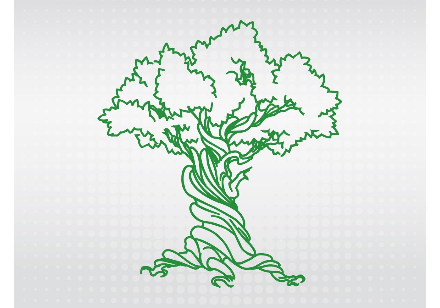 Vector Illustration Tree: Tree Logo Free Vector Art