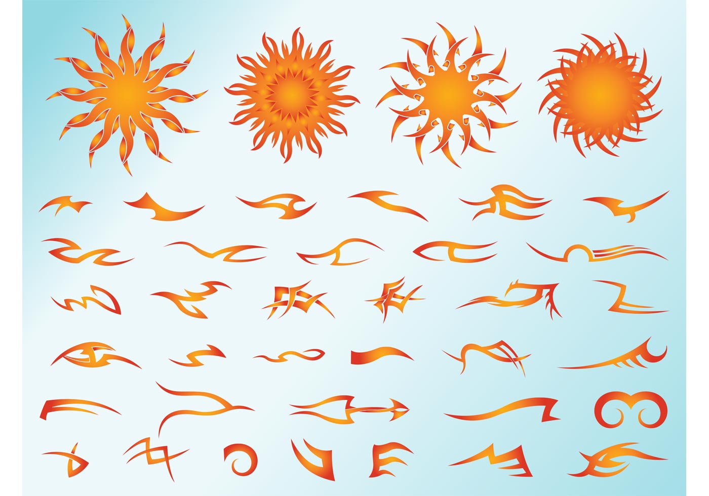 Tribal Sun Free Vector Art