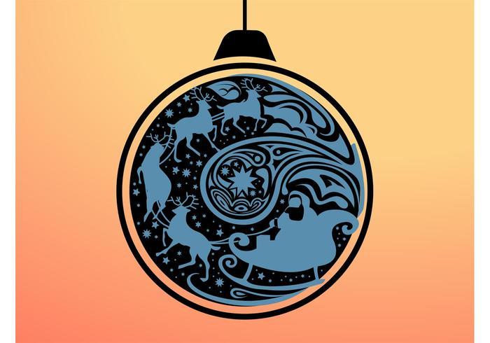 Santa Ornament Clip Art