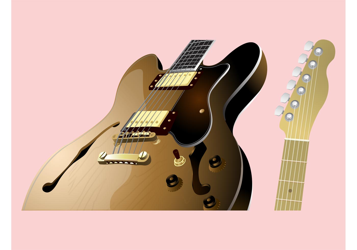 Guitar Parts Download Free Vector Art Stock Graphics Images Acoustic Diagram
