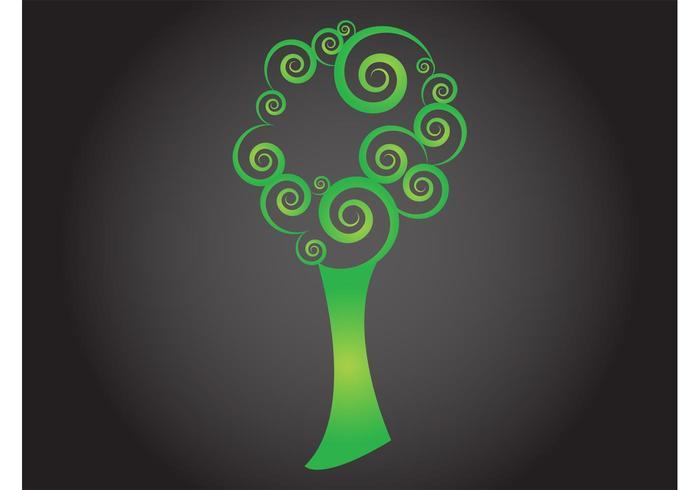 Swirling Tree Vector