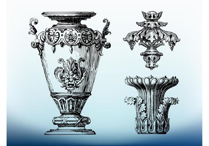 Antique Ornaments Vector