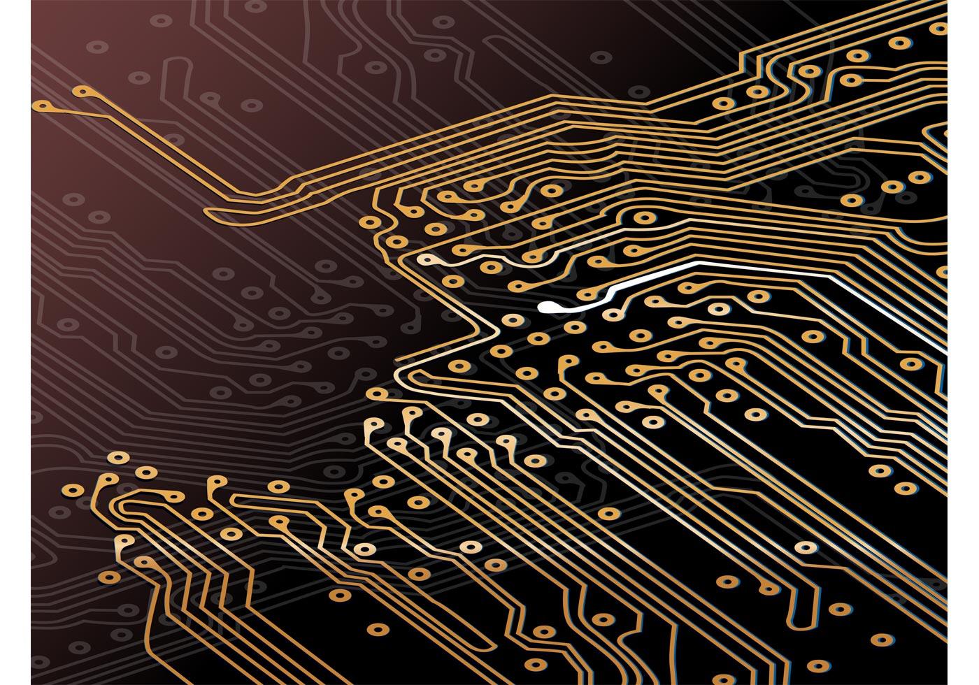 Motherboard Circuit Illustration: Download Free Vector Art, Stock Graphics