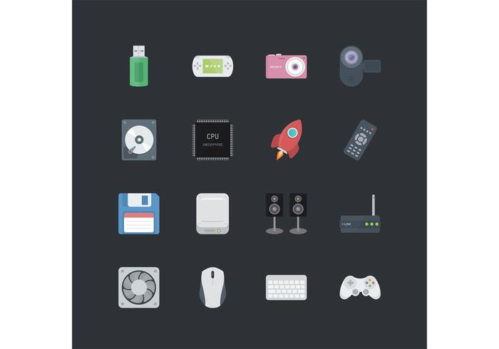 Teknologi Vector Icon Pack