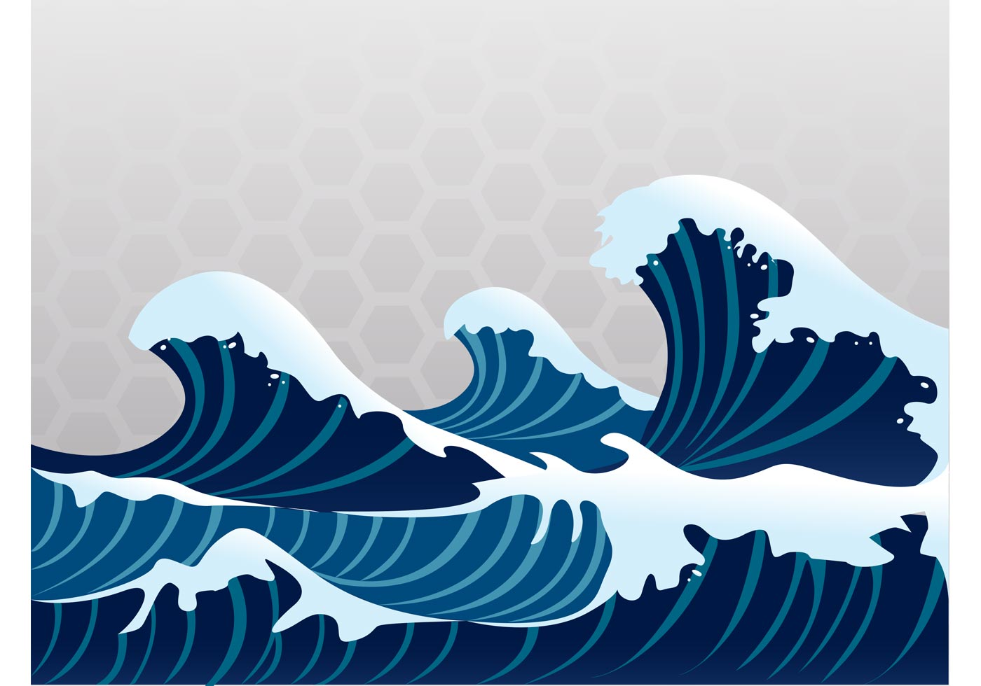 Great Wave Vector - Download Free Vector Art, Stock ...