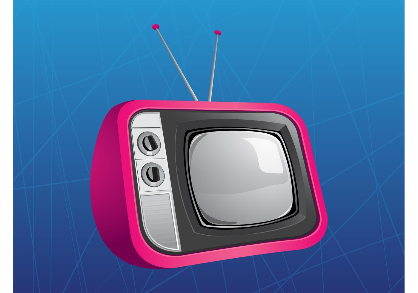 Retro TV Vector - Download Free Vector Art, Stock Graphics ...