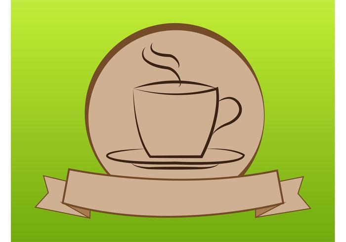 Logotipo del café vector