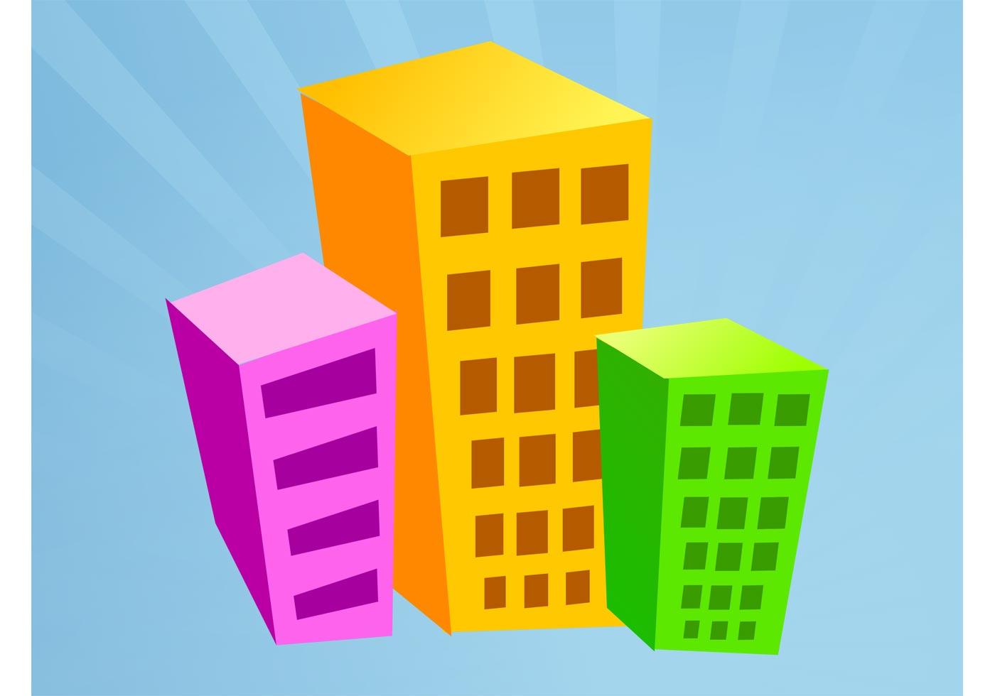 Cartoon Buildings Free Vector Art 12205 Free Downloads