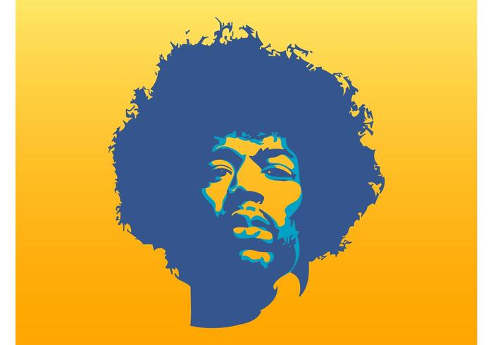 jimi hendrix vector - download free vector art, stock graphics