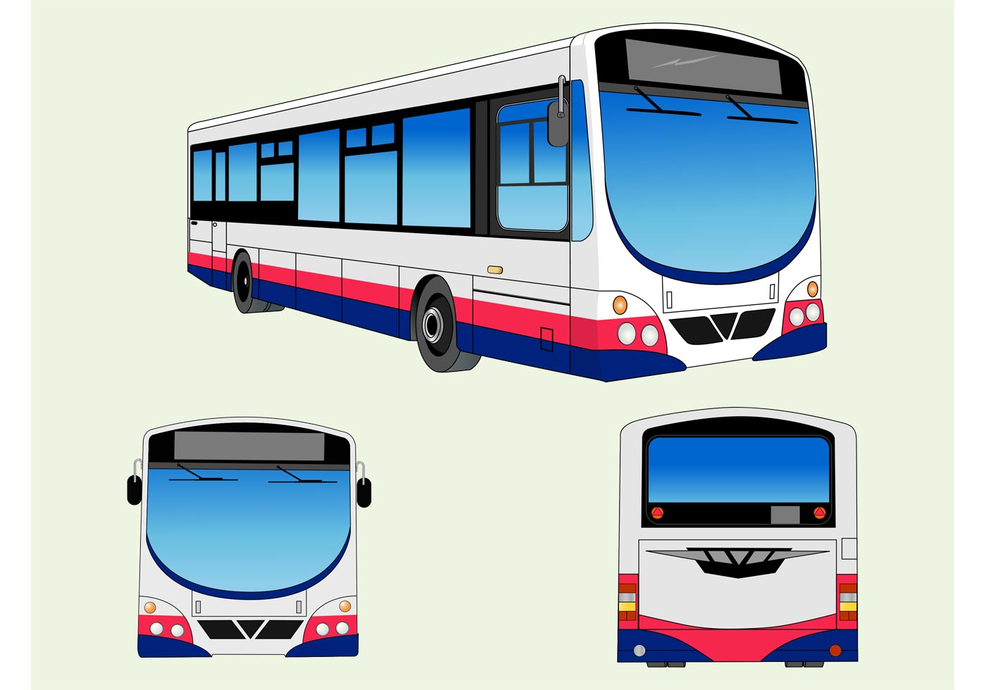 Bus graphics download free vector art stock graphics for Clipart bus