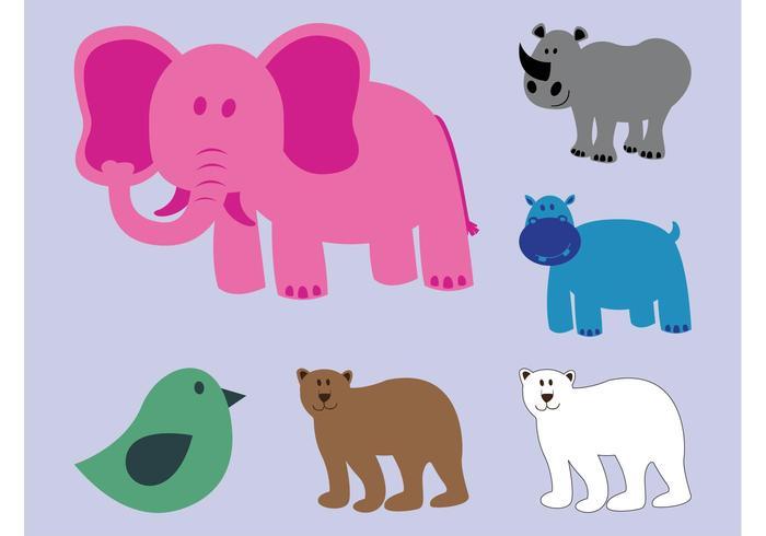 Wilde dieren vectoren