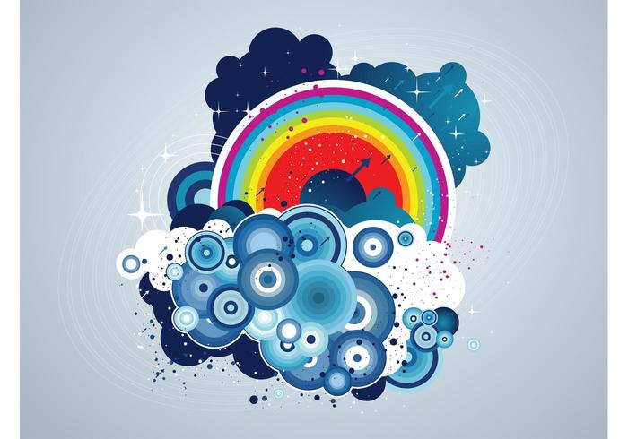 Grunge Rainbow Clouds