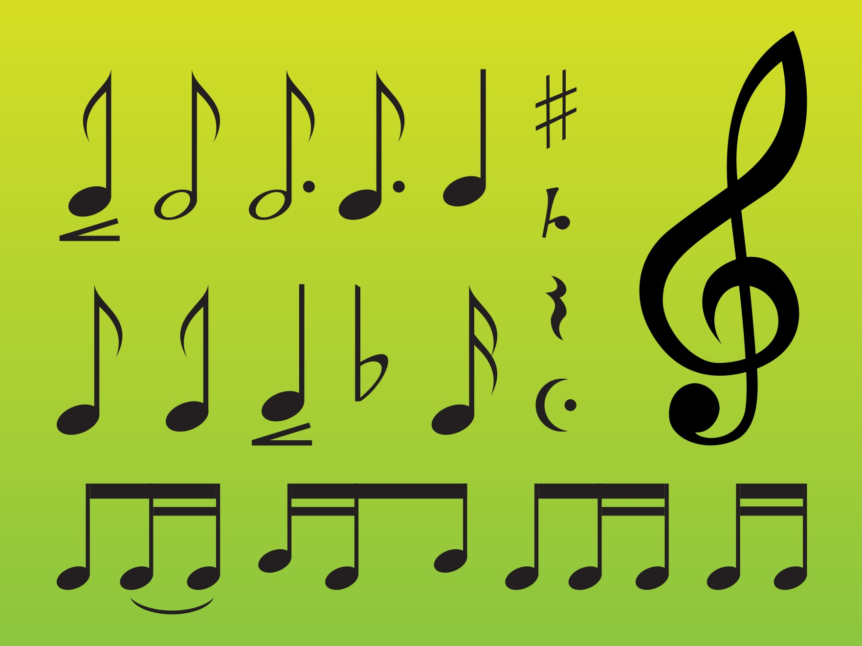Music Symbols Download Free Vector Art Stock Graphics