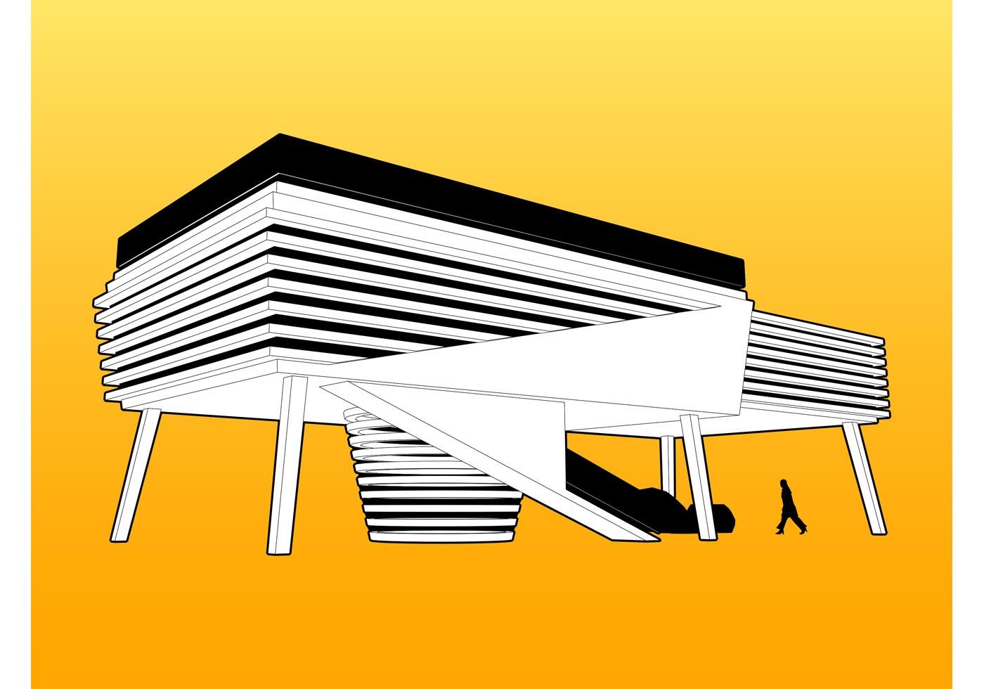 Modern house vector download free vector art stock for Modern house clipart