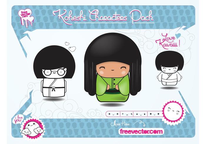 Kokeshi Characters
