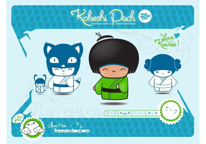 Kokeshi Illustrations