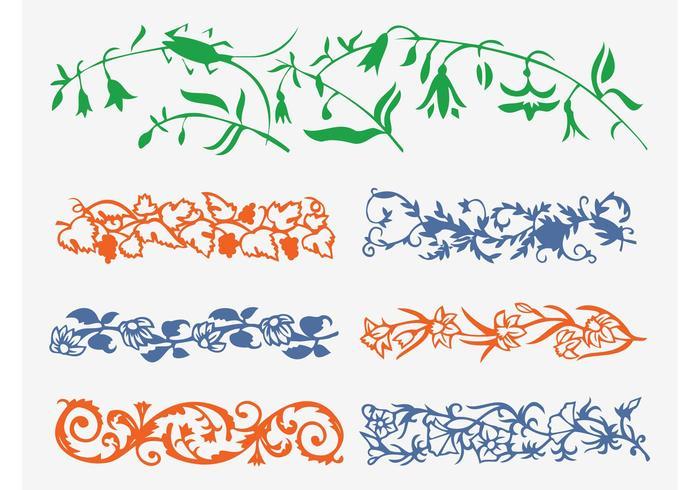 Floral Friezes Vector