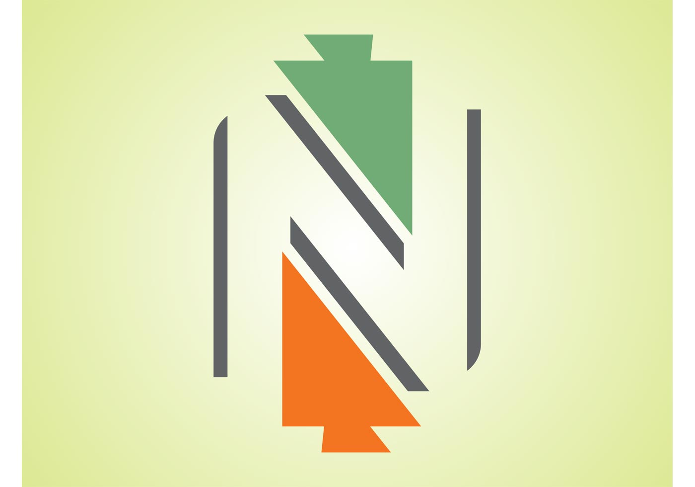 arrows-logo-vector  D Letter N Template on printable box, cut out,