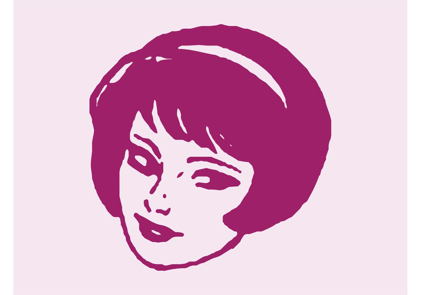 Retro Girl - Download Free Vector Art, Stock Graphics & Images
