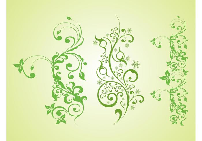 Green Plants Vector Graphics